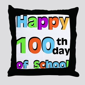Happy 100th Day of School Throw Pillow