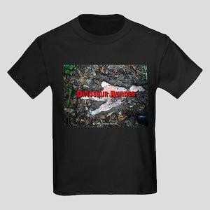 Dinosaur Footprint Kids Dark T-Shirt
