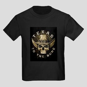 Texas to the bone Kids Dark T-Shirt