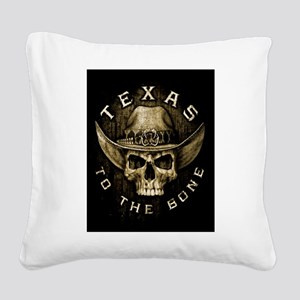 Texas to the bone Square Canvas Pillow