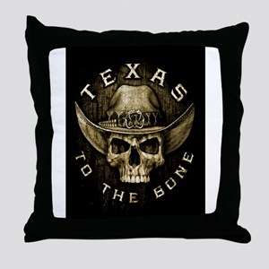 Texas to the bone Throw Pillow