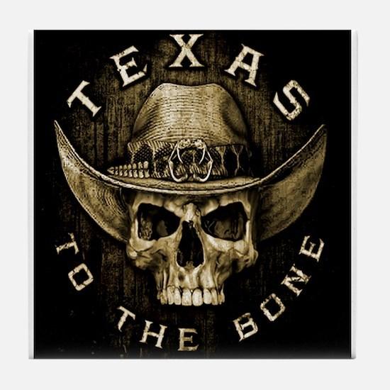 Texas to the bone Tile Coaster