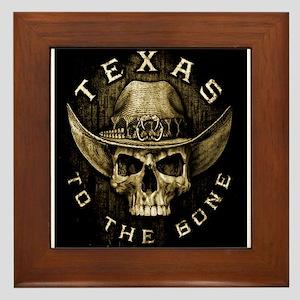 Texas to the bone Framed Tile