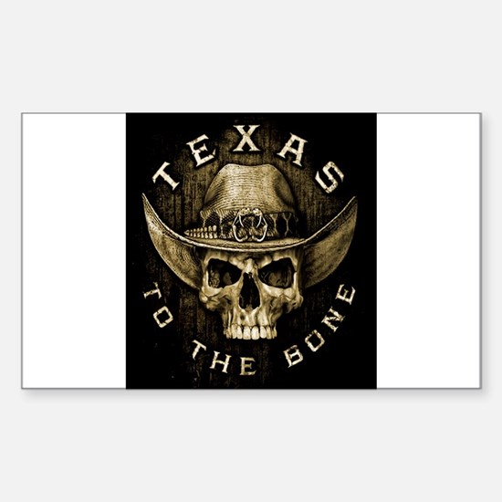 Texas to the bone Sticker (Rectangle)
