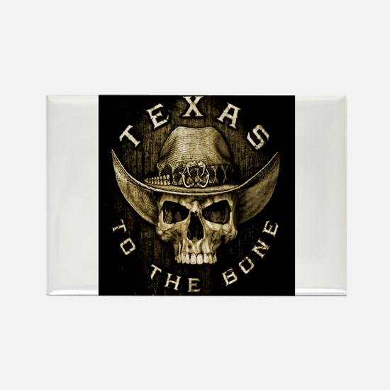 Texas to the bone Rectangle Magnet