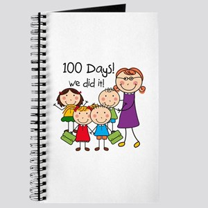 Kids and Female Teacher 100 Days Journal