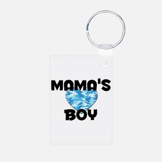 Mamas Boy Aluminum Photo Keychain
