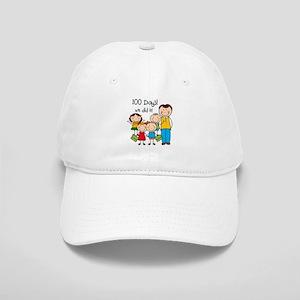 Kids and Male Teacher 100 Days Cap