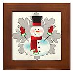 Snowman Framed Tile