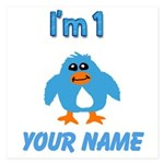 Im 1 Blue Penguin 2 5.25 x 5.25 Flat Cards