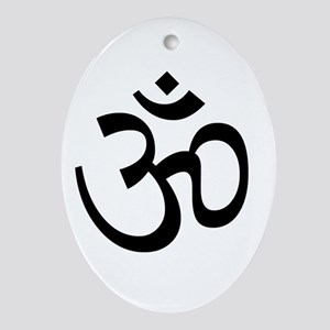 Om Ornament (Oval)