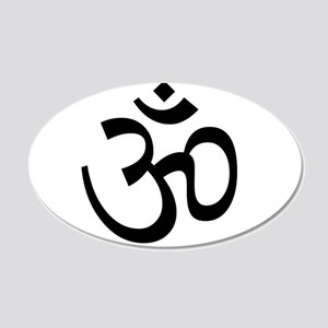Om 20x12 Oval Wall Decal