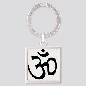 Om Square Keychain