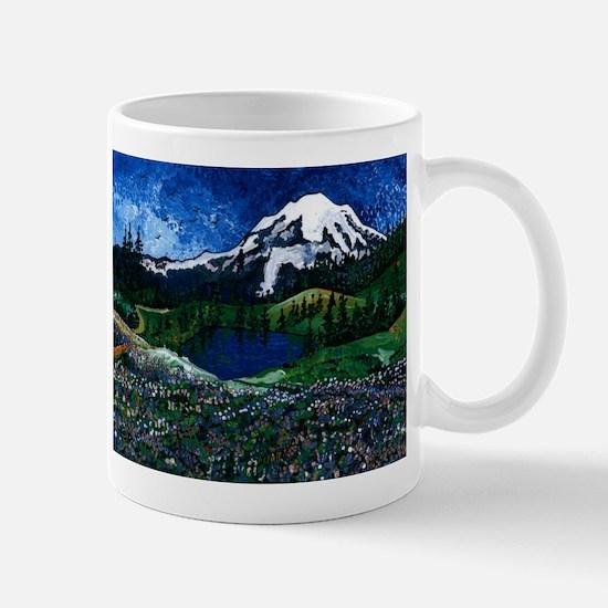Mt Rainier with Blue Sky Mug
