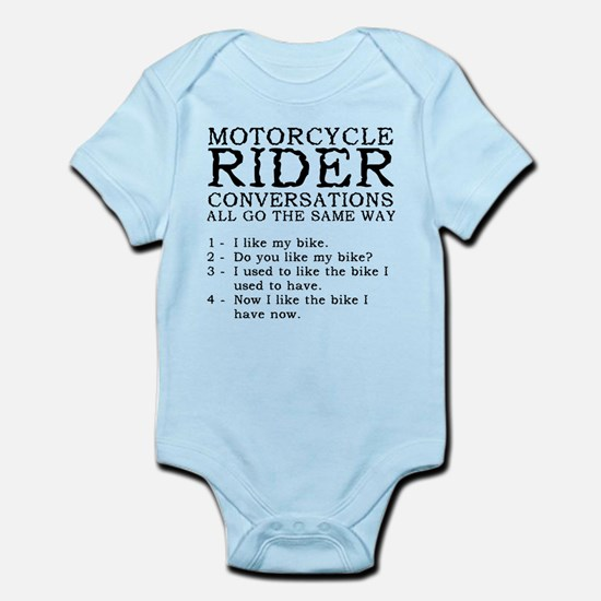 Motorcycle Rider Conversations Funny T-Shirt Infan