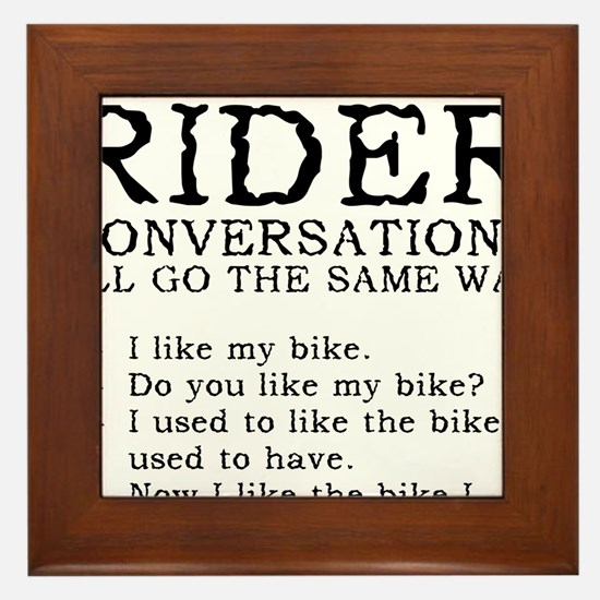 Motorcycle Rider Conversations Funny T-Shirt Frame