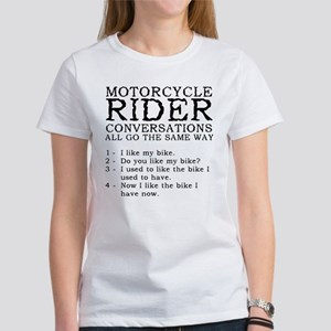 Motorcycle Rider Conversations Funny T-Shirt Women