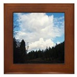 Eel River with Clouds Framed Tile