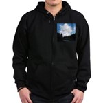 Eel River with Clouds Zip Hoodie (dark)