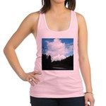 Eel River with Clouds Racerback Tank Top