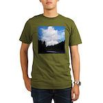 Eel River with Clouds Organic Men's T-Shirt (dark)