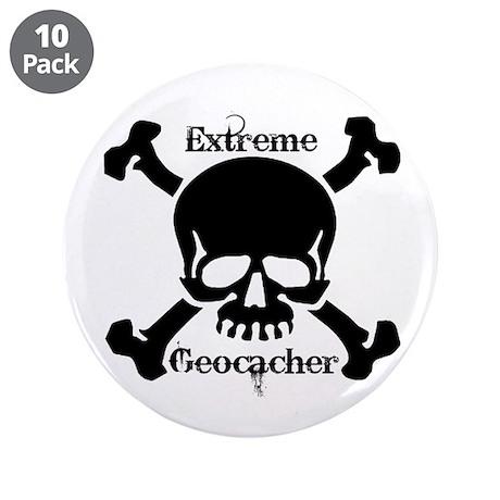 "Extreme Geocacher 3.5"" Button (10 pack)"