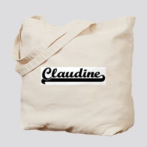 Black jersey: Claudine Tote Bag