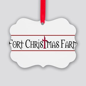 Fort Christmas Farm Picture Ornament
