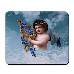 Angel Holding Harp Mousepad
