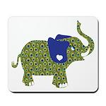 Peacock Elephant Mousepad