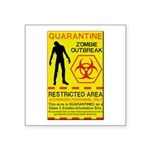Zombie Outbreak Square Sticker 3