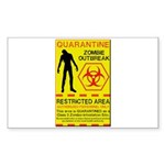 Zombie Outbreak Sticker (Rectangle 10 pk)