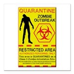 Zombie Outbreak Square Car Magnet 3