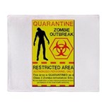 Zombie Outbreak Throw Blanket