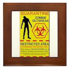 Zombie Outbreak Framed Tile