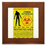 Zombie Outbreak Framed Tile