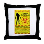 Zombie Outbreak Throw Pillow