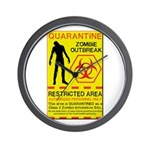 Zombie Outbreak Wall Clock