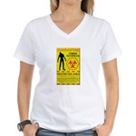 Zombie Outbreak Women's V-Neck T-Shirt