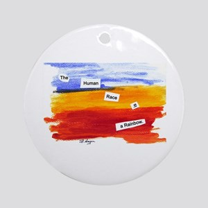 Human Race Is A Rainbow Ornament (Round)