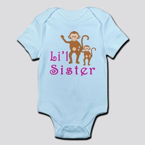 Little Sister Cute Monkeys 2 Infant Bodysuit