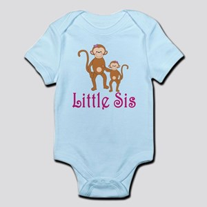 Little Sis Cute Monkeys Infant Bodysuit
