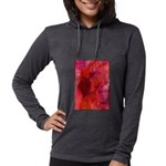Pink Leaves Womens Hooded Shirt