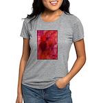 Pink Leaves Womens Tri-blend T-Shirt