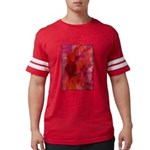 Pink Leaves Mens Football Shirt