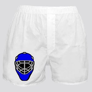 Blue Goalie Mask Boxer Shorts