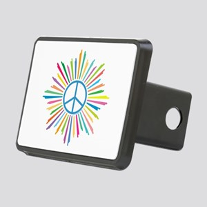 Peace Symbol Star Rectangular Hitch Cover