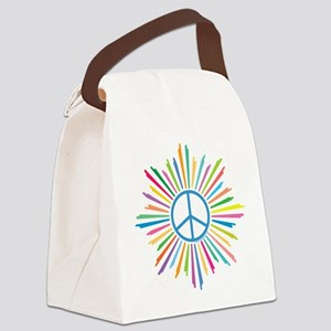 Peace Symbol Star Canvas Lunch Bag