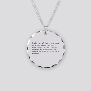 Hair Stylist Definition Necklace Circle Charm