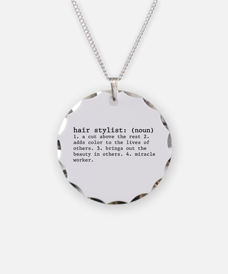 Hair Stylist Definition Necklace